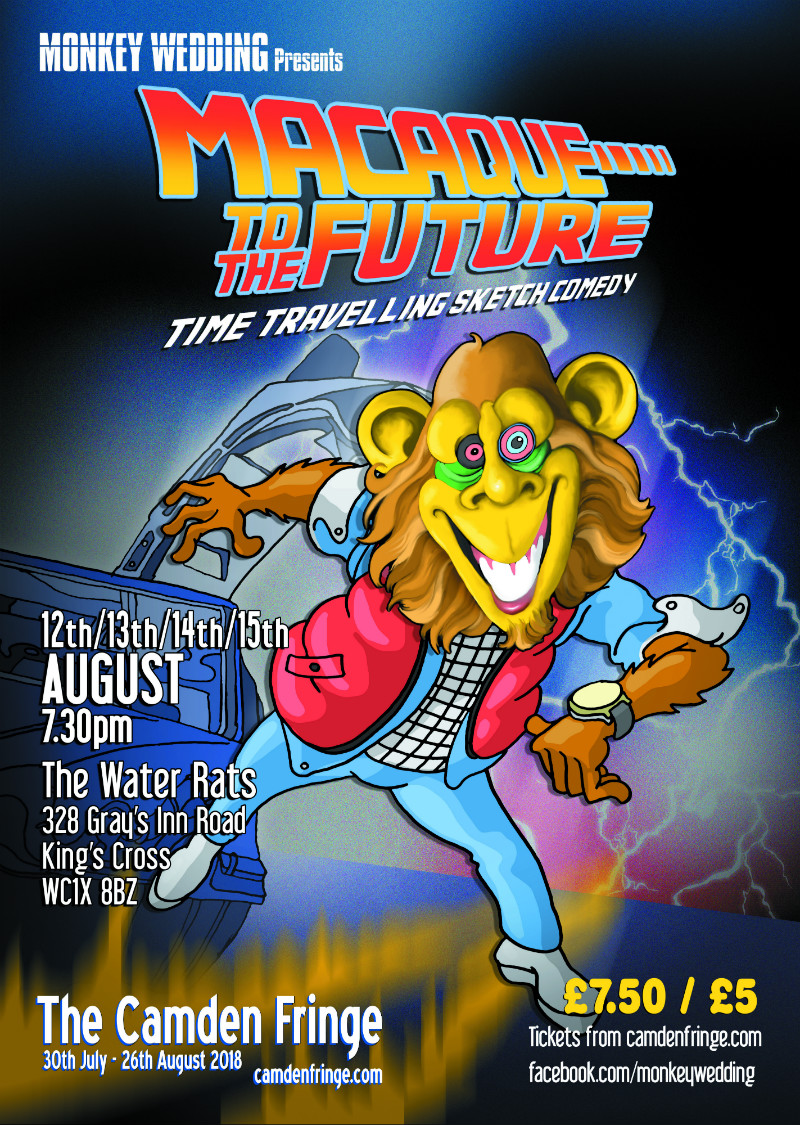 Macaque To The Future Poster